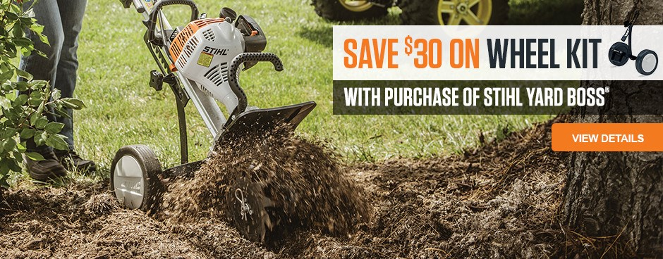 Save $30 on YARD BOSS Wheel Kit!